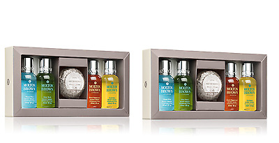 2 x MOLTON BROWN THE TASTING MENU FOR HIM - MEN'S GIFT SET (4 X 30ML) - NEW
