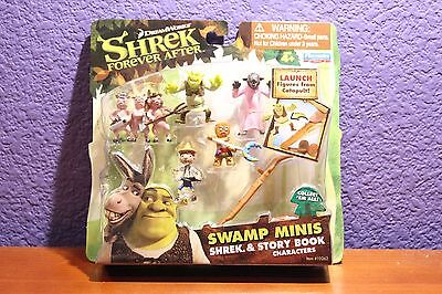 Shrek: Forever After- Swamp Minis-Shrek and Story Book Characters Factory Sealed