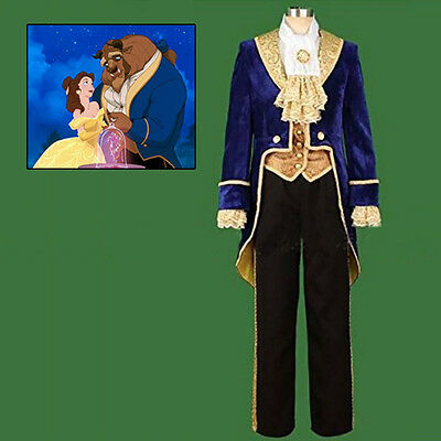 Halloween Beauty and the Beast Prince Tuxedo Cosplay Costume Party Men's Costume