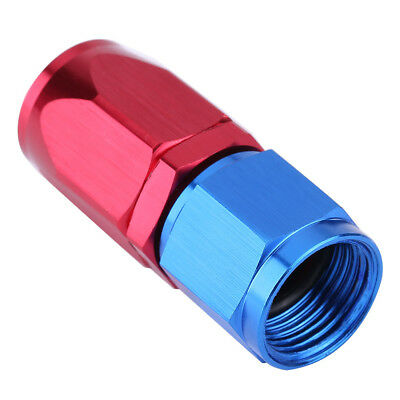 AN8 AN-8 Straight 0°Push Lock Swivel Oil/Fuel/Gas Hose Line End Fitting Adapter