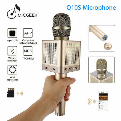 MicGeek Wireless Bluetooth Q10S Karaoke Player Gold Metal Color For iphone7/plus