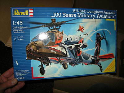1:48 Revell AH-64D Longbow Apache 100 Years Military Aviation Nr. 04896 OVP