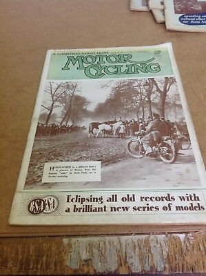 Motor Cycling Magazine December 23 1936