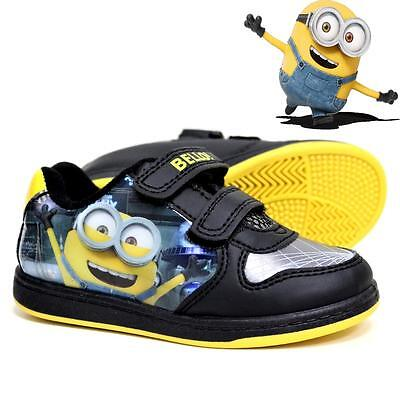 Boys Running Trainers Infants Kids Minions Skate School Sports Shoes Size