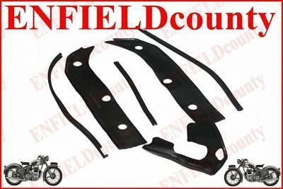 New Black Front Mudguard+ Horn + Bridge  Rubber Kit For Lambretta Gp Scoots @de