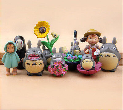 New 9pcs / set studio Ghibli Neighbor Totoro Spirited Away no face Mini figures