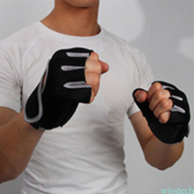 1 pair Weight lifting Gym Gloves Body Building Training Fitness Exercise Sports