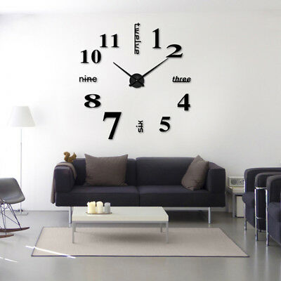3d diy wall clock Modern Sticker Big Watch Decoration Sticker Home Art