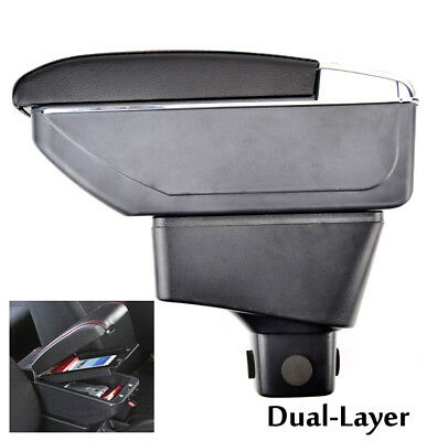 Leather Armrest For Suzuki SX4 07-13 Centre Console Arm Rest Storage Box Tray UK