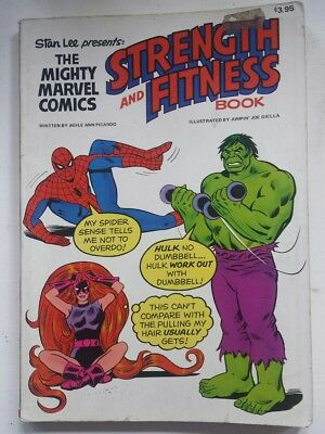 Mighty Marvel Comics Strength and Fitness Book 1st 1976