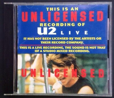 U2 Live Vol. 1  - Unlicensed - CD - Excellent Condition - Rare!