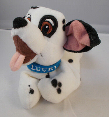 "Disney 101 Dalmatians LUCKY Bean Plush Dog 7"" Long"