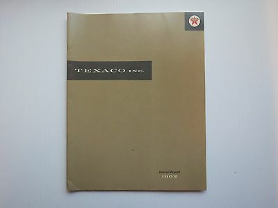Texaco Inc 1962 Annual Report For Shareholders Book Publication Collectible