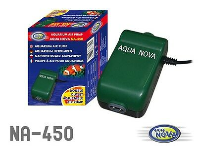AQUA NOVA Aquarium Fish Tank Air Pump single and double outputs