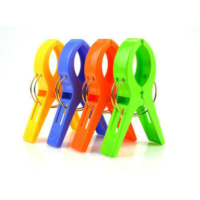 Set of 4 Beach Towel Clips in Fun Bright Colors - Prevents Towels Blowing Away