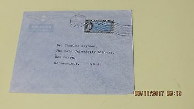 Nassau Bahamas 6d Cover to Connecticut USA 1955 Airmail