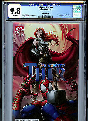 Mighty Thor #20 (2017) Marvel CGC 9.8 White Mary Jane Variant