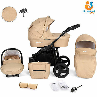 Baby Pram From Birth 3in1 Pushchair Car Seat Carrycot Combi Travel System Buggy