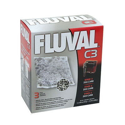 FLUVAL zeo-carb pour c3-filter, NEUF