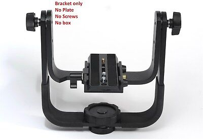 Manfrotto 393 Heavy Duty Gimbal Type Telephoto Lens Support BRACKET ONLY *READ*