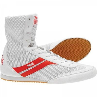 Lonsdale Stealth Junior Boxing Boots - UK Size 3 - White / Red