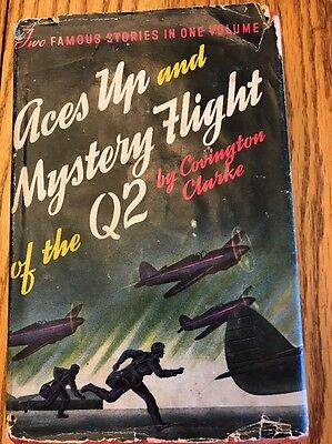 ACES UP and MYSTERY FLIGHT of the Q2 *2 Books In 1 *Covington Clarke,1929,DJ