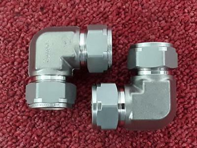 """2 x Swagelok Stainless Hydraulic Fitting 2507-1210-9 3/4"""" O/D Elbow"""