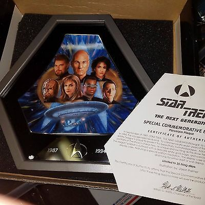 Willitts Design, Star Trek, The Next Generation 1994, Collector's Plate, MIB