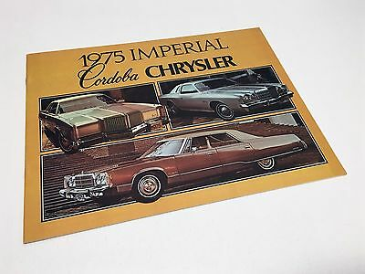 1975 Chrysler Cordoba Newport New Yorker Town & Country Imperial Brochure