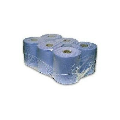 Paper Rolls Cleaning 6 Pack 2 Ply Embossed Industrial  Centrec Wipe General Use