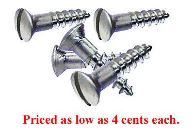 "#6X5/8"" NICKEL PLATED OVAL HEAD SLOTTED WOOD SCREWS, Asst Lots. from 4 cents ea."