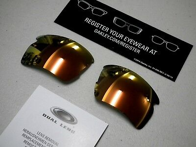 Authentic Oakley Flak 2.0 XL Fire Iridium Replacement Lenses