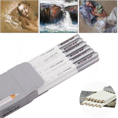 1/4/12pcs White Pastel Charcoal Drawing Sketch Pencil Art Artist Craft Useful