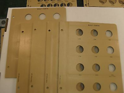 Dansco four pages for US Half Cents plus blank page for the same - new