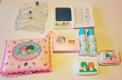 Little Twin Stars Sanrio 1976 Japan Compact Mirror Comb Tape Cutter Soap Pencils