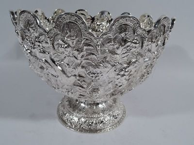 Kirk Bowl - Antique Baltimore Repousse Footed - 11/12 - American 916 Silver