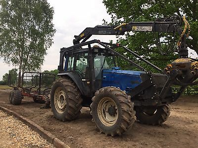 Valtra 8050 2002 Forestry Tractor Forwarder Timber Crane Tree Surgery