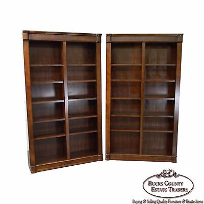 Large Pair of Mahogany Open Bookcases