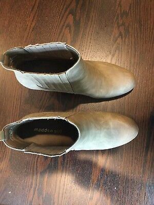 Madden Girl Ankle Boots Women's Size 10 Light Brown