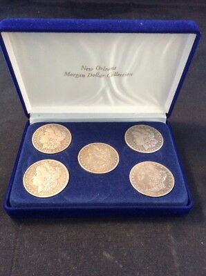 New Orleans Morgan 90% Silver Dollar Collection, 1880 1889 1891 1899 & 1896