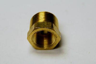 """Brass Fittings: Brass Reducing Bushing Size 3/8"""" x 1/4"""" Quanity 25"""