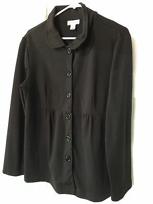 Motherhood Maternity Women's Size Large  Blazer Black EUC baby doll waist Jacket