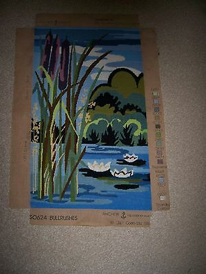 Vintage Tapestry / Bullrushes / 22 X 13 Inches