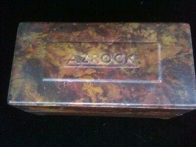 Vintage Azrock Sample Box Asbestos Tile Flooring Asphalt Vinyl Tile Composition