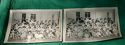 2 Vintage 50's 60's African American Photos Group Child w/ Toys Dolls Drums Cars