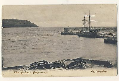 Vintage Postcard - The Harbour, Greystones, Co. Wicklow - Unposted 2119