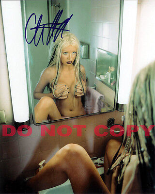 REPRINT RP 8x10 Signed Autographed Photo Picture:   Nude Christina Aguilera