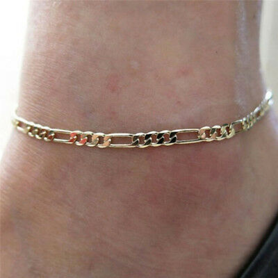1 Pcs Fashion Gold Silver Plated High Quality Ankle Chain Anklet Foot Jewelry FO