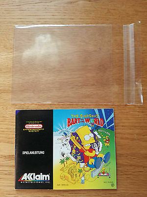 * The Simpsons - World NOE * PAL B - NES Original Anleitung - kein Modul / OVP