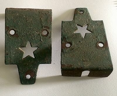 (Lot of 10)Antique Metal Star Barn Door Hangers/Holders(Starline-Cannonball)